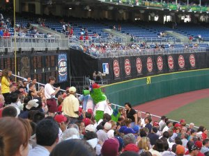 The Phillie Phanatic, Veterans Stadium, August 2003