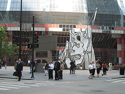 Dubuffet, Monument with Standing beast, Thompson Center, Chicago