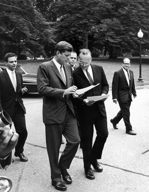 John Kennedy and McGeorge Bundy