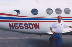 Doug White and the King Air 200