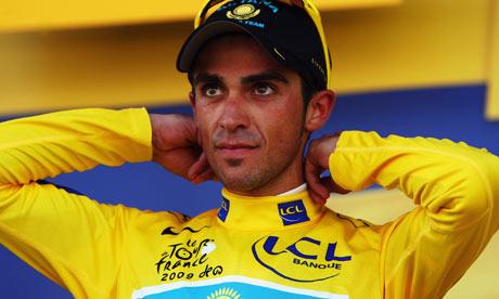 Contador, in yellow at last