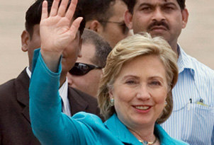 Clinton arriving in New Delhi today