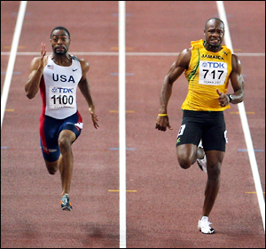 Tyson Gay and Asafa Powell, Osaka 2007 World Championships