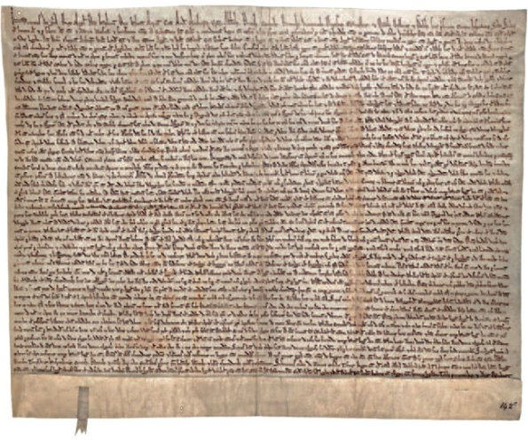 Magna Carta, from the Bodleian Library at Oxford University