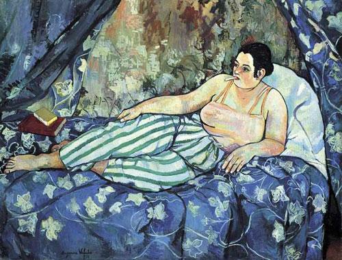 """Suzanne Valadon's, """"La Chambre blue,"""" 1923"""