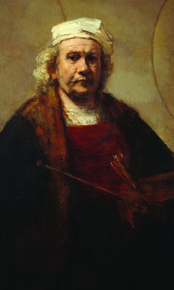 Rembrandt self portrait, circa 1665