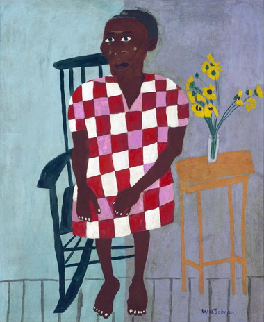 Aunt Alice, ca. 1944, oil on compressed board, collection of Morgan State University