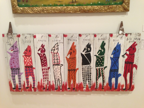 All the Devils, RA Miller, enamel paint on barn door, Georgia Museum of Art