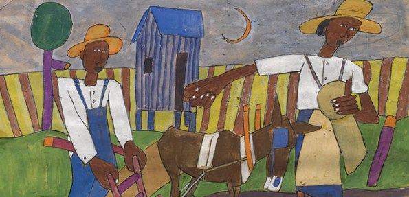 Sowing, William H. Johnson, ca. 1940, gouache and pencil,  collection of Morgan State University