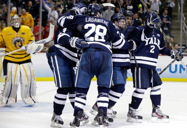 Yale scores over Quinnipiac