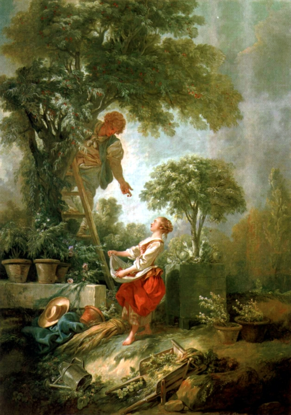 The Cherry Gatherers, François Boucher, 1768