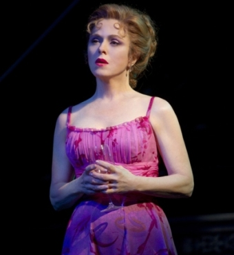 Bernadette as Sally Durant Plummer in Follies on Broadway.