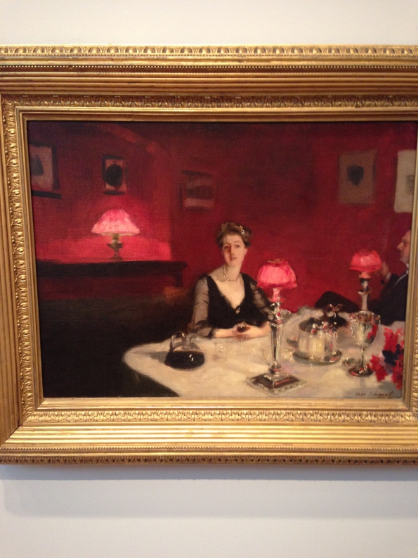 La verre de porto (A Dinner Table at Night), 1884, John Singer Sargent
