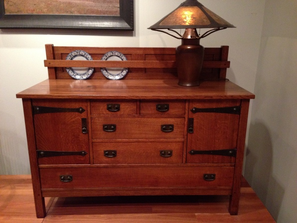 Leopold and John George Stickley, sideboard, 1910