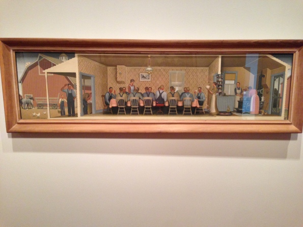 Dinner for Threshers, Grant Wood, 1934
