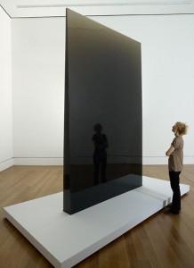 Gray Column, 1975–76, De Wain Valentine. Polyester resin. 140 x 87 1/2 x 9 1/2 in.