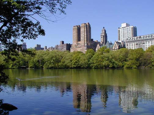The Upper West Side: the Majestic and the Dakota at center and right-center