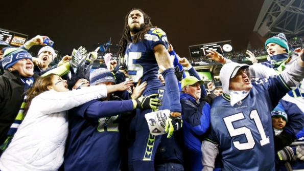 Richard Sherman and the victorious Seahawks