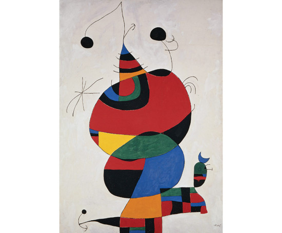 Woman, Bird and Star (Homage to Picasso), February 15, 1966/April 3-8, 1973, Joan Miró
